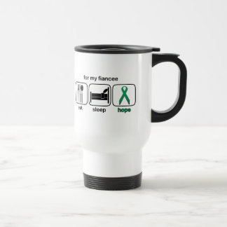 Fiancee Eat Sleep Hope - Kidney Cancer Travel Mug