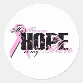Fiancee Eat Sleep Hope - Lymphoma Classic Round Sticker