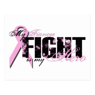 Fiancee Hero - Fight Breast Cancer Postcard