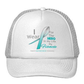 Fiancée - héroe en mi vida - cáncer de cuello del  gorros bordados