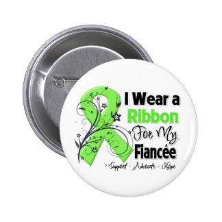 Fiancee - Lymphoma Ribbon Pinback Buttons