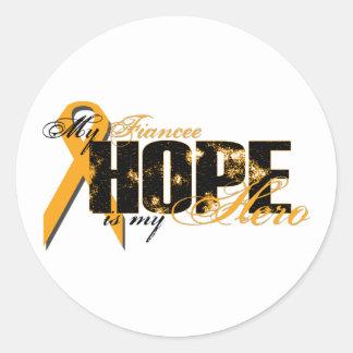 Fiancee My Hero - Leukemia Hope Classic Round Sticker