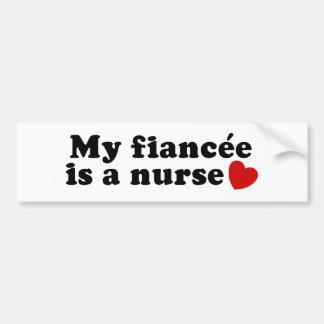 Fiancee Nurse Bumper Sticker