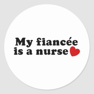 Fiancee Nurse Classic Round Sticker