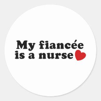 Fiancee Nurse Sticker