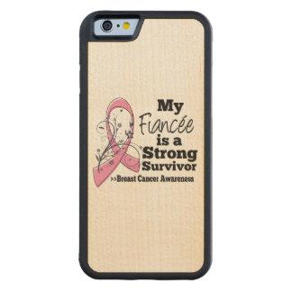 Fiancée Strong Survivor Breast Cancer Carved® Maple iPhone 6 Bumper Case