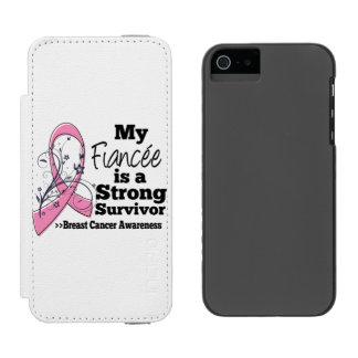 Fiancée Strong Survivor Breast Cancer Incipio Watson™ iPhone 5 Wallet Case