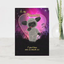 Fiancee Valentine's Day Card With Cute Sheep