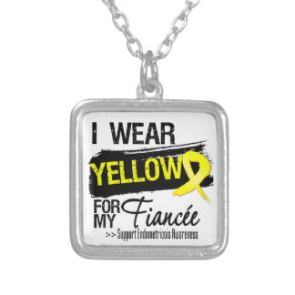 Fiancee Yellow Ribbon Endometriosis Personalized Necklace
