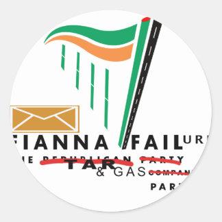 fianna failure classic round sticker