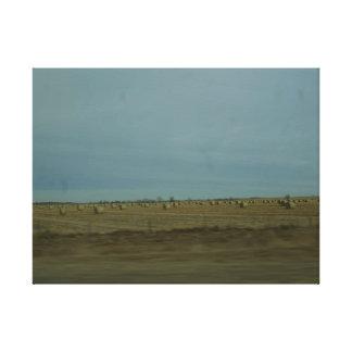 Fianzas del heno de Nebraska Impresion En Lona