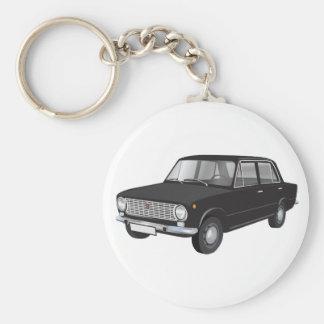 Fiat 124 black keychain