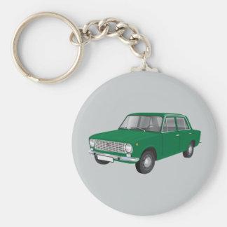 Fiat 124 green keychain