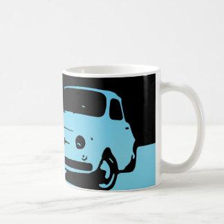 Fiat 500, 1959 - azul del Lt en oscuridad Taza