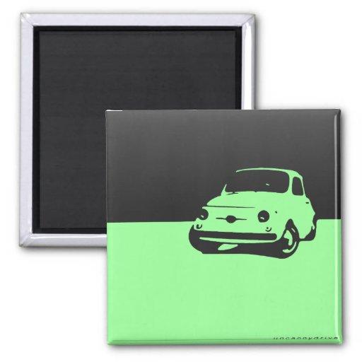Fiat 500, 1959 - ennegrézcase en luz imanes para frigoríficos