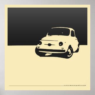 Fiat 500, 1959 - negro del carbón de leña en el po poster