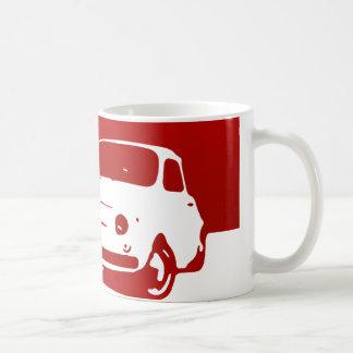 Fiat 500, 1959 - rojo en luz taza de café