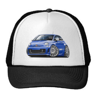 Fiat 500 Abarth Blue Car Trucker Hat