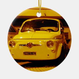 Fiat 500 Abarth. Ceramic Ornament