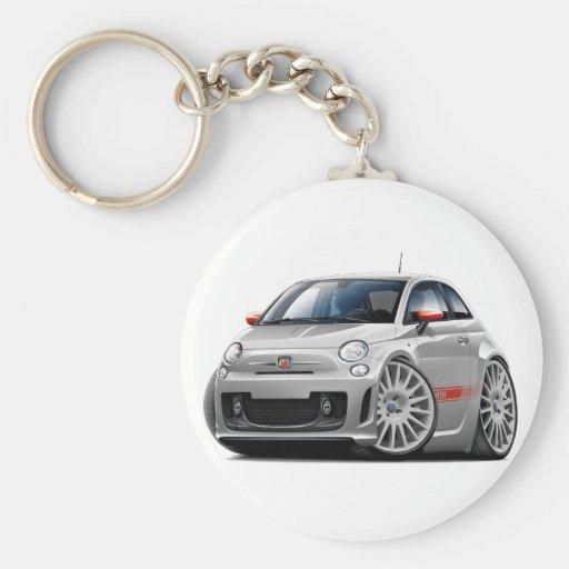 Fiat 500 Abarth Grey Car Keychain