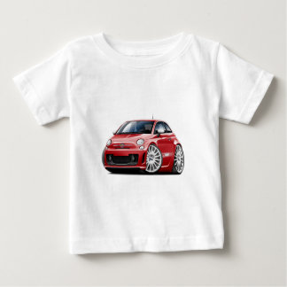Fiat 500 Abarth Red Car Baby T-Shirt
