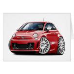 Fiat 500 Abarth Red Car Greeting Card
