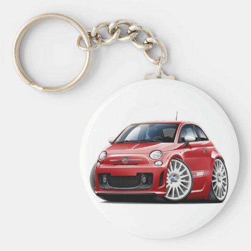 Fiat 500 Abarth Red Car Keychains