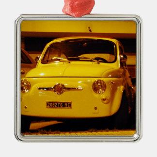 Fiat 500 Abarth. Square Metal Christmas Ornament