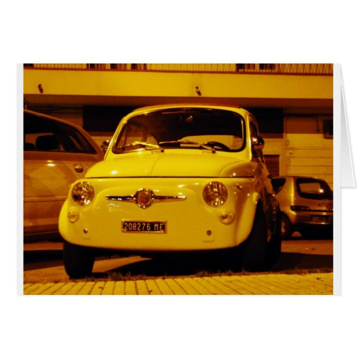 Fiat 500 Abarth. Tarjeta De Felicitación