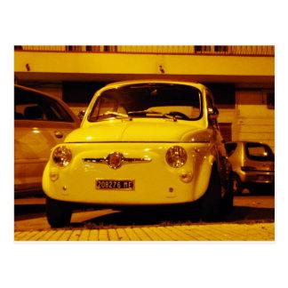 Fiat 500 Abarth. Tarjeta Postal