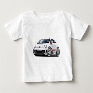 Fiat 500 Abarth White Car Baby T-Shirt