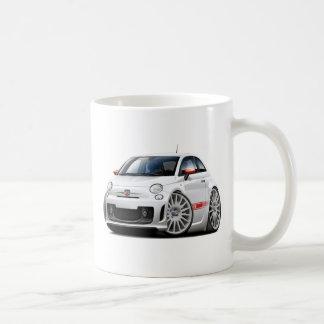 Fiat 500 Abarth White Car Classic White Coffee Mug