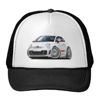 Fiat 500 Abarth White Car Trucker Hat
