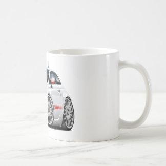 Fiat 500 Abarth White Car Mugs
