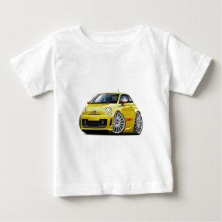 Fiat 500 Abarth Yellow Car Baby T-Shirt