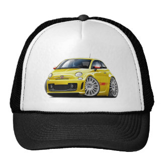 Fiat 500 Abarth Yellow Car Trucker Hat