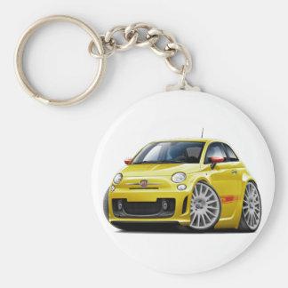 Fiat 500 Abarth Yellow Car Keychain