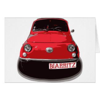 Fiat 500 Biarritz Card