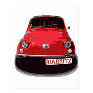 Fiat 500 Biarritz Postcard