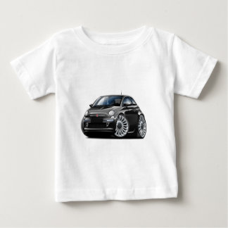 Fiat 500 Black Car Baby T-Shirt