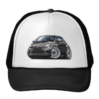 Fiat 500 Black Car Trucker Hat