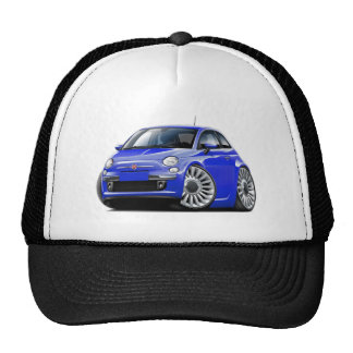 Fiat 500 Blue Car Trucker Hat