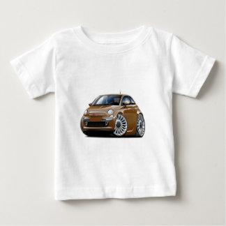 Fiat 500 Brown Car Baby T-Shirt