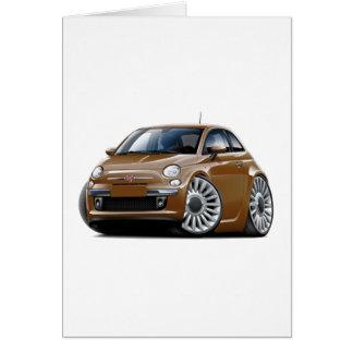 Fiat 500 Brown Car Card