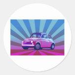 Fiat 500 Bunt Classic Round Sticker