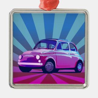 Fiat 500 Bunt Metal Ornament