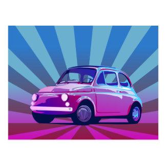 Fiat 500 Bunt Postcard