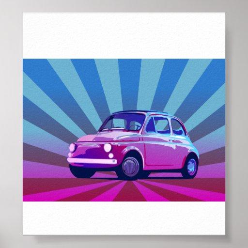 Fiat 500 Bunt Poster