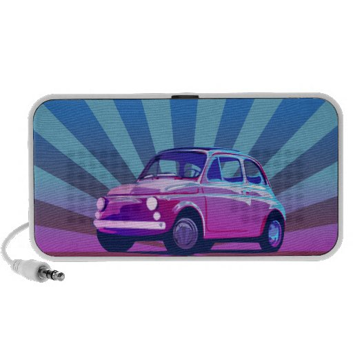 Fiat 500 Bunt Travel Speakers