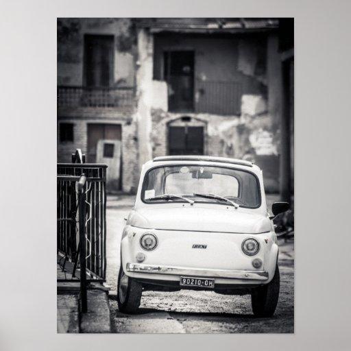 Fiat 500, Cinquecento, en el poster de Italia